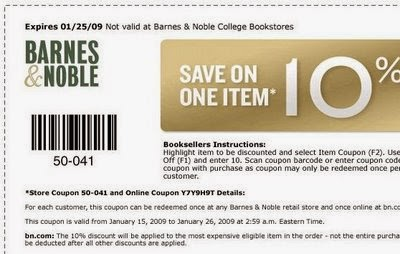 Barnes and noble coupon code 20